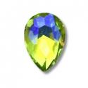 5 mini joyaux goutte Vert jaune