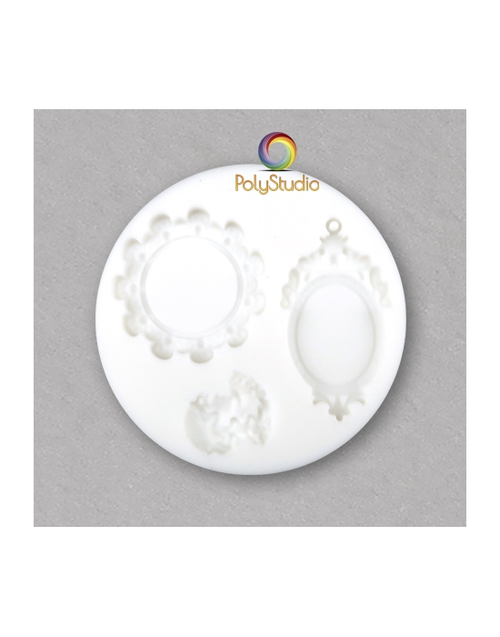 Cameo and medaillons silicon bakeable mold