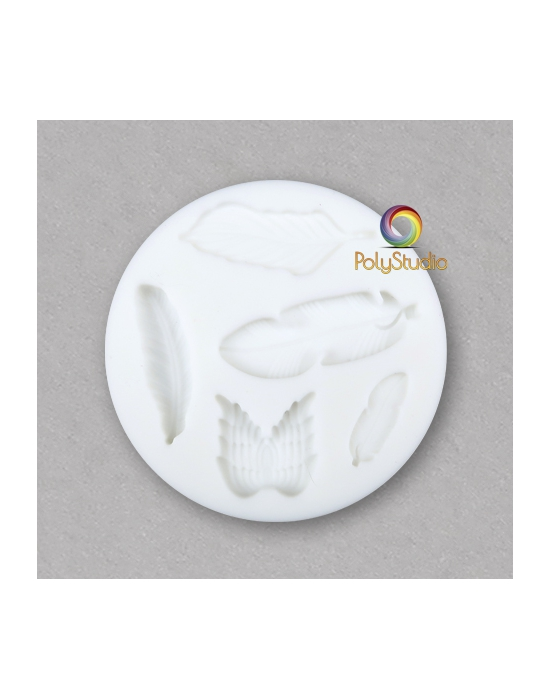 Feathers silicon bakeable mold