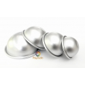 4 aluminium half sphere molds
