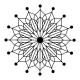Big Snowflake 2 Wood stamp - 5 x 5 cm