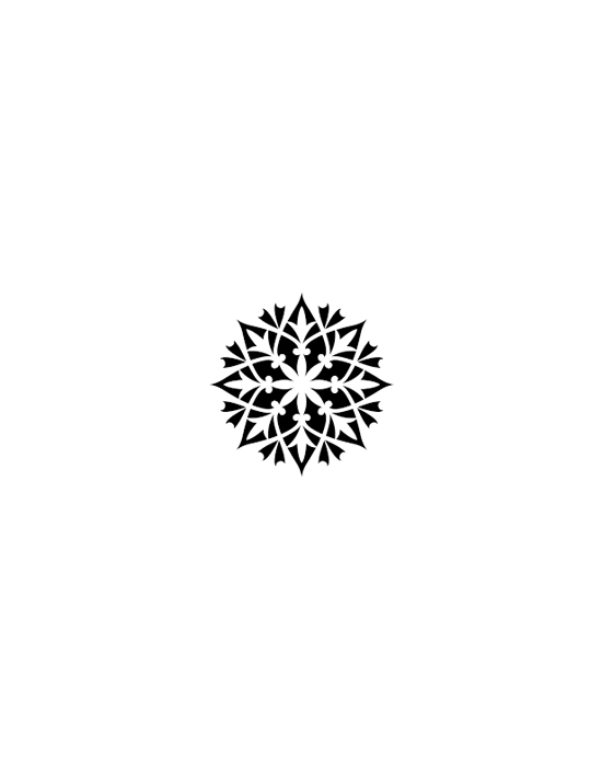 Snowflake Wood stamp 3 x 3 cm