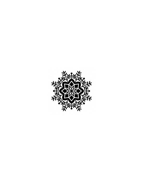 Snowflake 2 Wood stamp 3 x 3 cm