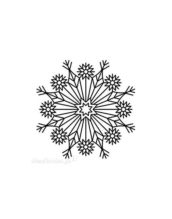 Tampon Bois Grand Flocon - 5 x 5 cm