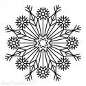 Big Snowflake wood stamp 5 x 5 cm