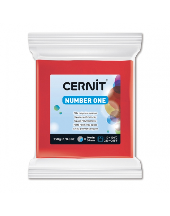 CERNIT Number One - 250 g - Rouge - N° 400