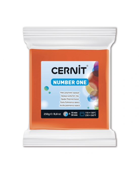 CERNIT Number One - 250 g - Orange - N° 752
