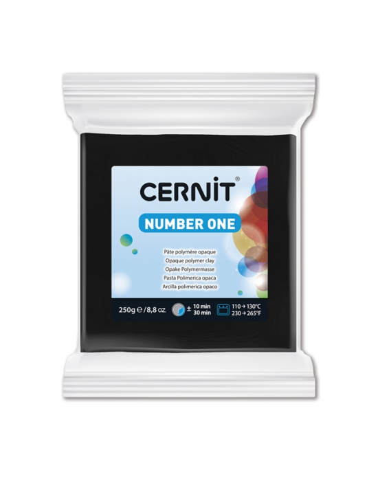 CERNIT Number One - 250 g - Noir - N° 100