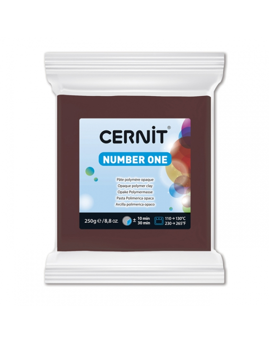 CERNIT Number One - 250 g - Brun - N° 800