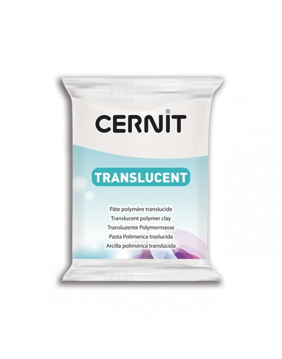 CERNIT Translucent 56 g Glitter Blanc N° 10