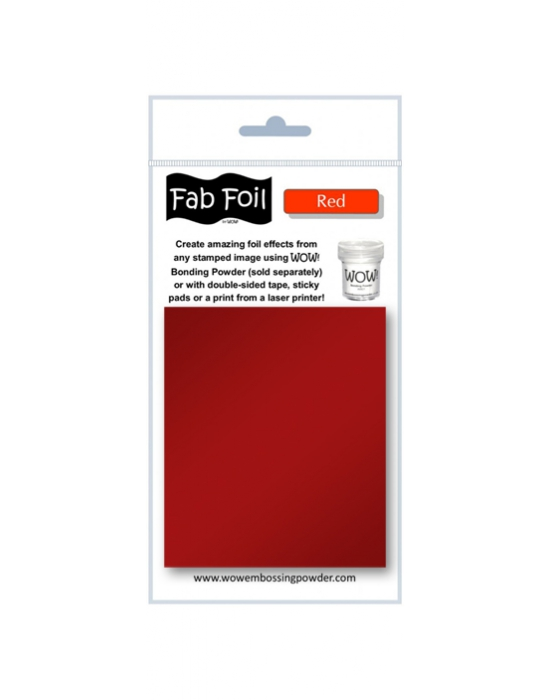 Fab Foil Red