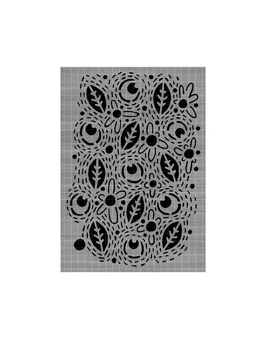 Leaf Line Stencil Carabelle