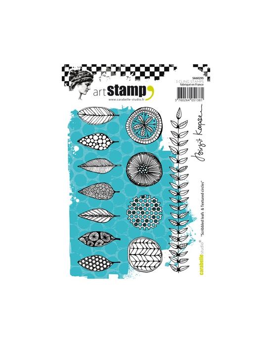 Scribbled Leaf A6 stamp