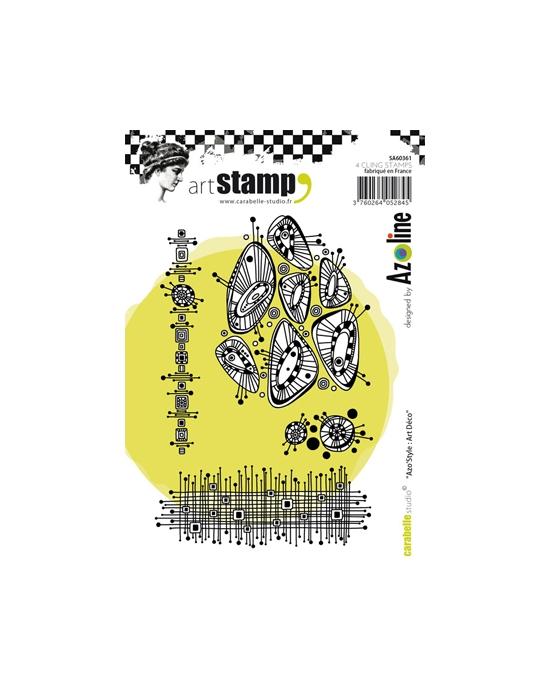 Azoline Art Deco A6 stamp