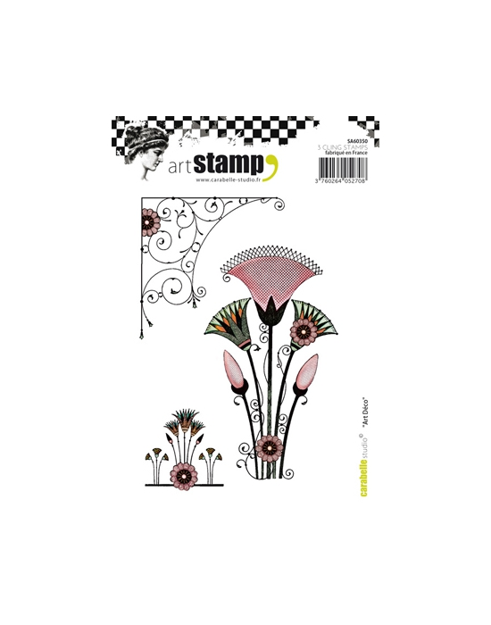 Art Deco A6 stamp