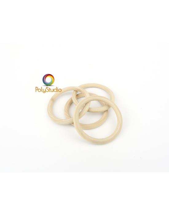 4 ring wood beads 5 cm