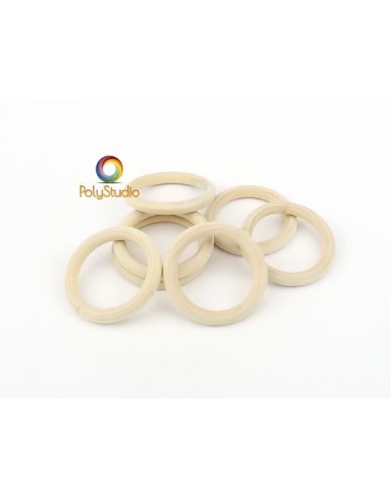 7 anneaux bois 3 cm