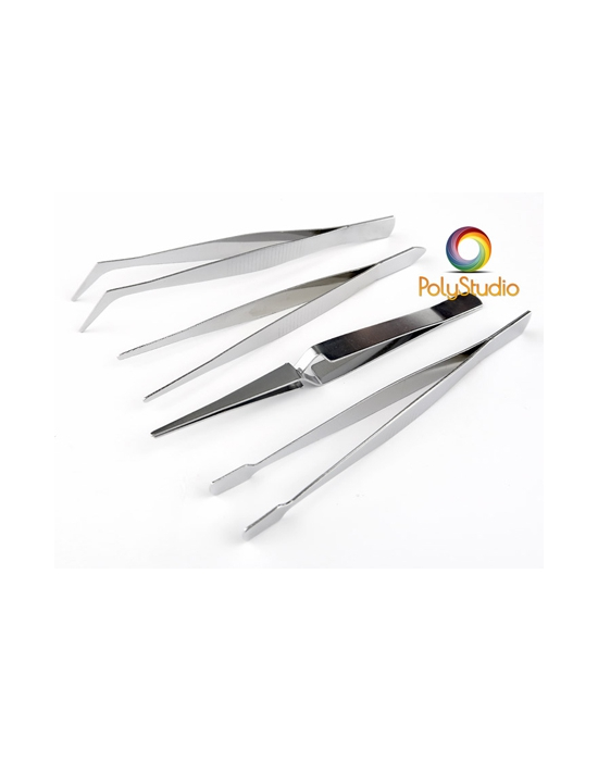 Set of 4 tweezers