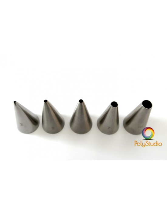 5 round conical cutters set