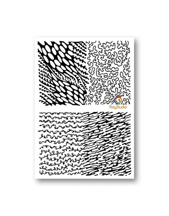M. Muir texture stamps Coast Line