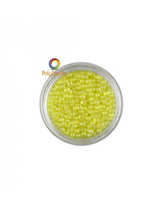 Micro perles verre Jaune irisées