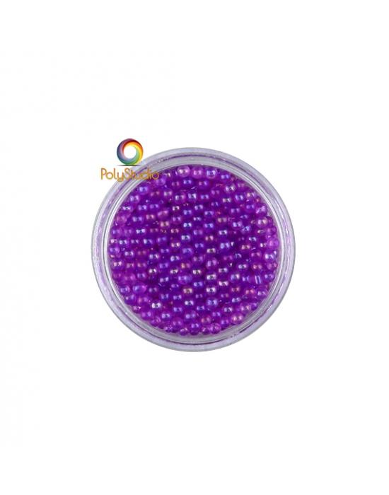 Micro perles verre VIolet irisées