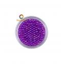 Purple iridescent round micro glass beads
