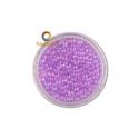 Micro perles verre Mauve irisées