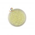 Champagne iridescent round micro glass beads