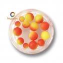 Perles rondes dégradées Orange Jaune