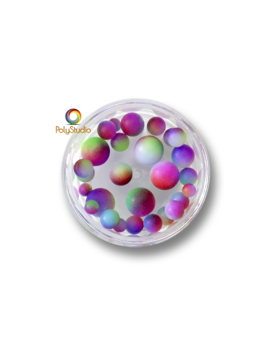 Color gradient round beads Multicolored