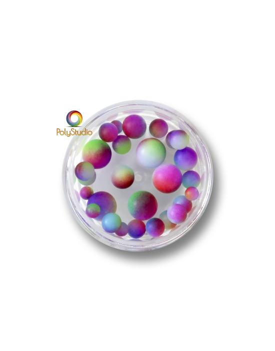 Perles rondes dégradées Multicolores