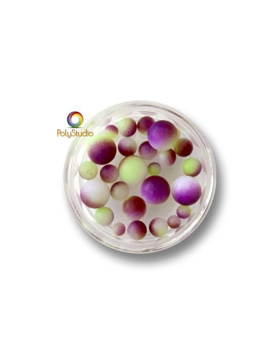 Perles rondes dégradées Violet Vert