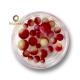 Perles rondes dégradées Rouge Jaune Blanc