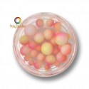 Color gradient round beads Pink Yellow White