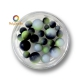 Color gradient round beads Black Green White