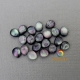Mother of pearl half round beads
