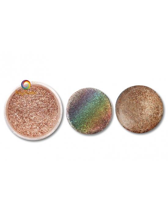 Poudre Pétillante Saumon pastel holographique