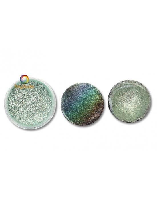 Poudre Pétillante Vert pastel holographique