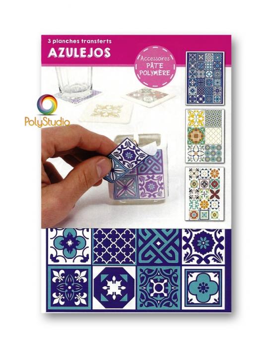 3 transferts Azulejos Graine Créative