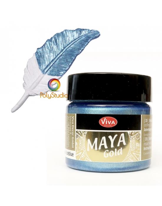 Peinture Maya Gold Bleu glacier