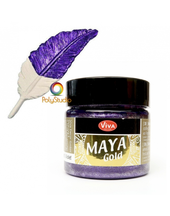 Peinture Maya Gold Violet
