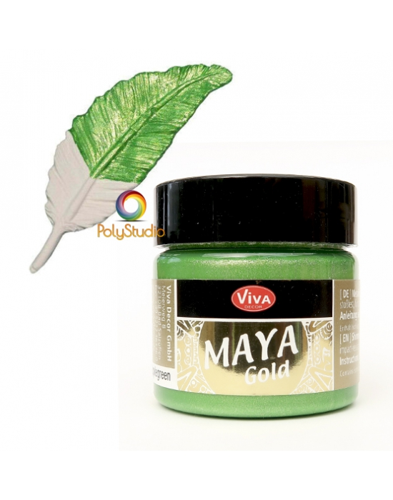 Apple green Maya Gold paint