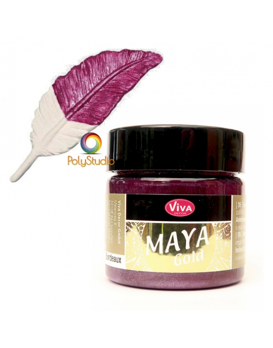 Burgundy Maya Gold paint
