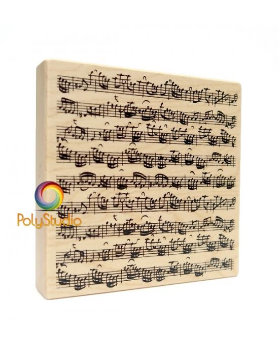 Wood stamp Music sheet