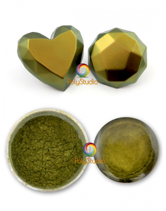 Chameleon powder Gold green
