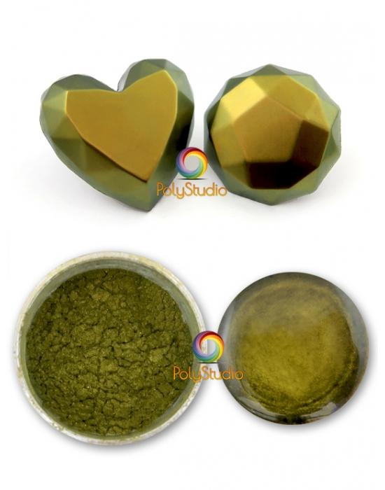 Chameleon powder Gold green