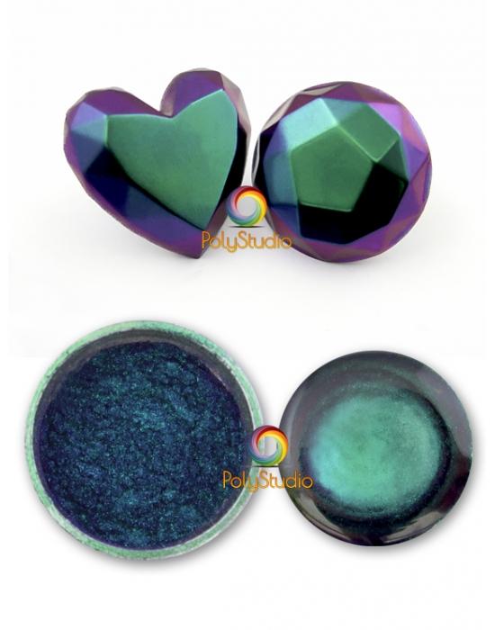 Poudre Caméléon Turquoise violet