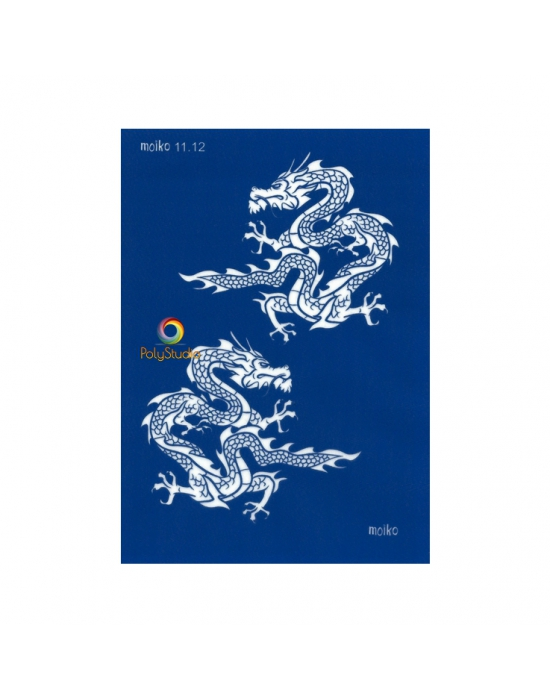 Moïko silk screen Dragons