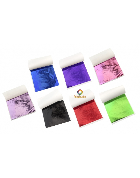 35 metal sheets assorted colors